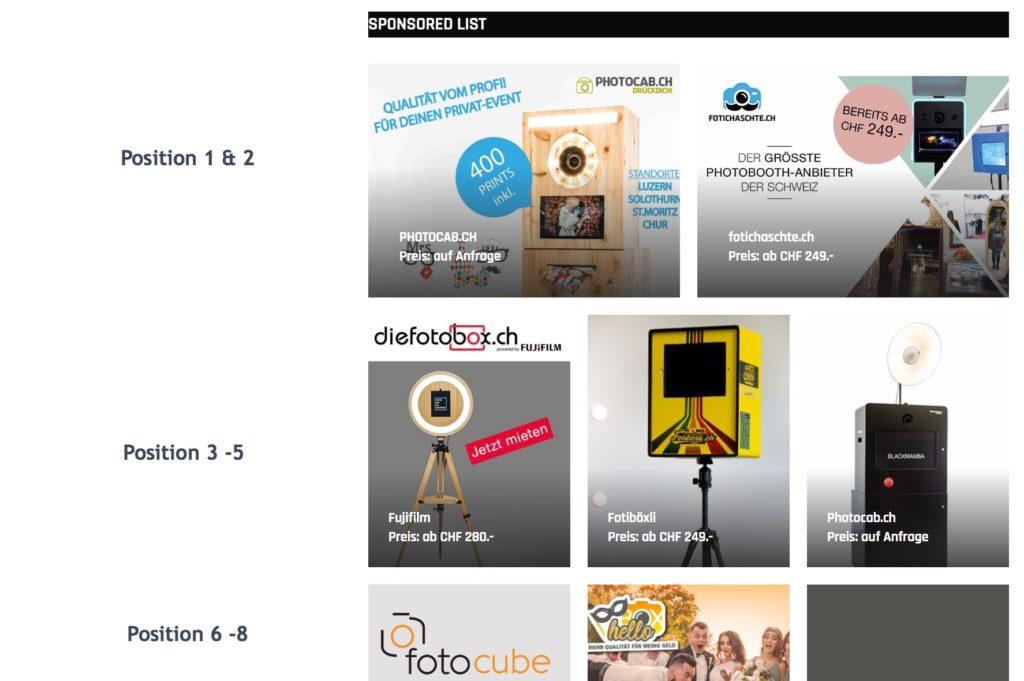 fotobox vergleich schweiz übersicht sponsored listing