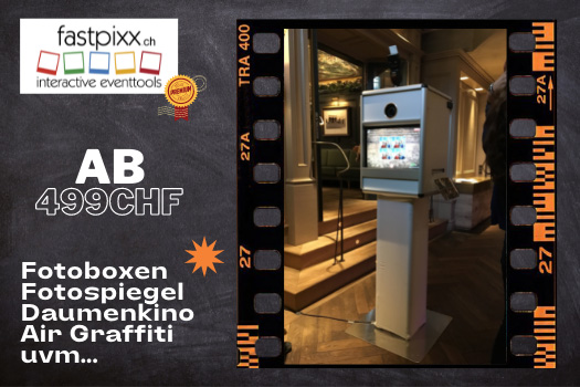 Fastpixx Fotobox mieten schweiz